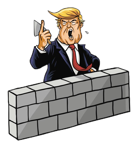 Trump building a wall
