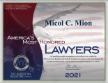 Micol Mion - America's Most Honored Lawers 2021
